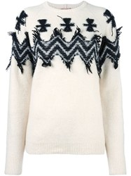 N 21 No21 Chevron Print Jumper Nude Neutrals