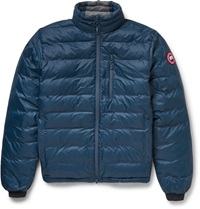 Canada Goose Lodge Packaway Down Filled Quilted Shell Jacket Blue