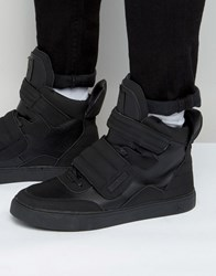 Criminal Damage Tribeca High Top Trainers Black