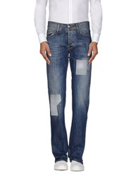 Shaft Denim Denim Trousers Men Blue