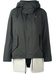 The Reracs Hooded Zip Coat Green