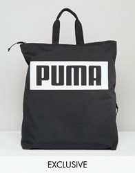 Puma Square Backpack In Black Exclusive To Asos Black