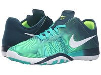 Nike Free Tr 6 Prt Clear Jade Midnight Turquoise Volt White Women's Cross Training Shoes Green