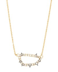 Alexis Bittar Two Tone Spiked Crystal Pendant Necklace Women's