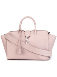 Saint Laurent Small 'Monogram Downtown Cabas' Tote Pink Purple