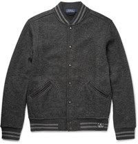 Polo Ralph Lauren Herringbone Woven Bomber Jacket Gray