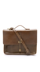 Billykirk Leather Schoolboy Satchel Olive