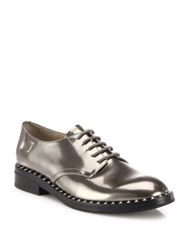 Ash Wonder Metallic Leather Lace Up Oxfords Cargo