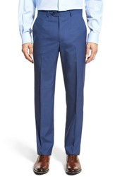 Men's Santorelli Flat Front Solid Wool Trousers