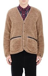 Needles Soft Cut Pile Cardigan Jacket Nude