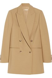 Michael Kors Double Breasted Wool Blend Blazer Nude