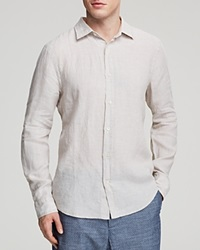 The Men's Store At Bloomingdale's Linen Woven Button Down Shirt Regular Fit Natural Flax