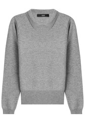 Steffen Schraut Cashmere Pullover With Collar Grey