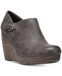 Dr. Scholl's Honor Platform Wedge Booties Women's Shoes Brown