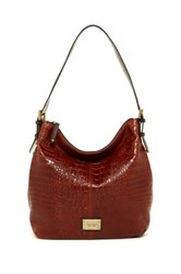 Tignanello Classic Beauty Leather Hobo Bag Brown