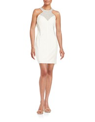 Decode 1.8 Embellished Open Back Sheath Dress White