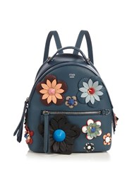 Fendi By The Way Mini Flowerland Backpack Blue