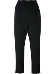 Steffen Schraut Loose Fit Cropped Trousers Black