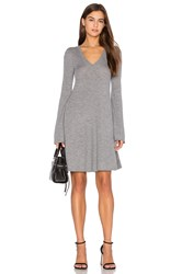 Bcbgmaxazria Flare Sleeve Sweater Dress Grey