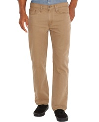 Levi's 514 Straight Khaki Padox Canvas Twill Pants Chino