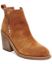 Steve Madden Women's Sharini Cut Out Booties Women's Shoes Chestnut Suede