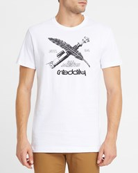 Iriedaily White City Rules Printed Fitted Round Neck T Shirt