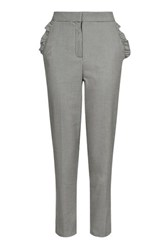 Topshop Tall Frill Pocket Peg Trousers Monochrome