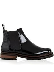 Hudson Wistow Patent Ankle Boot Black