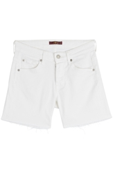 7 For All Mankind Stretch Cotton Denim Shorts