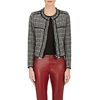 Etoile Isabel Marant Women's Tweed Laura Jacket Black Grey Black Grey