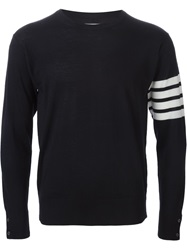Thom Browne Striped Sleeve Sweater Blue