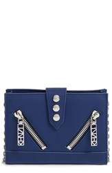Kenzo Women's 'Kalifornia' Waterproof Leather Wallet On A Chain Blue Navy Blue