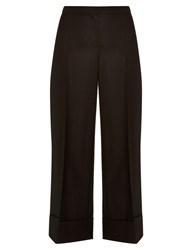 The Row Cusio Wool And Silk Blend Cropped Trousers