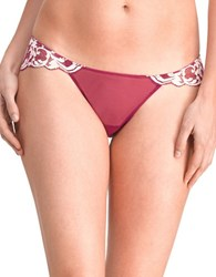 Natori Envious Lace Bikini Bottom Berry