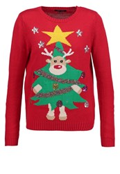 New Look 3D Rudolph Jumper Red