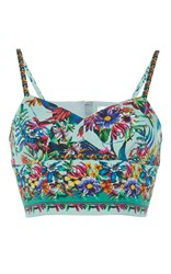 Zuhair Murad Tropical Print Cotton Top