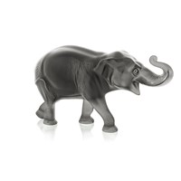 Lalique Sumatra Limited Edition Elephant Sculpture Grey