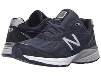 New Balance M990v4 Navy Silver Men's Shoes Blue