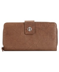 Giani Bernini Wallet Sandalwood Leather All In One Brown