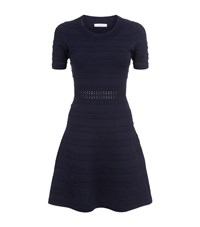 Sandro Dean Textured Knit Dress Female Blue