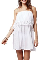 Women's Topshop Crochet Overlay Sundress