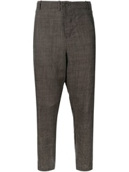 Forme D'expression Cropped Trousers Brown