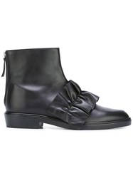 Msgm Frill Ankle Boots Black
