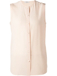 Givenchy Sleeveless Crepe Blouse Pink And Purple