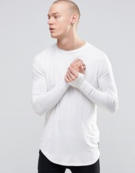 Sixth June Longline Longsleeve T Shirt White