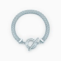 Tiffany And Co. Woventm Toggle Bracelet In Sterling Silver Large.