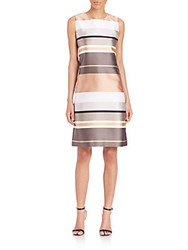 Lafayette 148 New York Twiggy Striped Silk Dress Rock