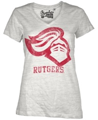 Royce Apparel Inc Women's Short Sleeve Rutgers Scarlet Knights T Shirt White