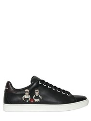 Dolce And Gabbana London Designers Patch Leather Sneakers