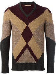 Nuur Geometric Pattern Pullover Red